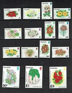 Ascension: 1981, Flowers, definitive set, Mint never hinged