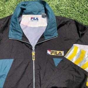 Rare VTG 90s Fila Tech Colorblock Windbreaker Jacket L/XL