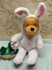 walt disney stuffed plush winnie the pooh in easter bunny costume