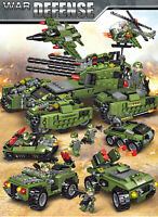 710PCS Tank Building Blocks Helicopter Vehicle Aircraft Boy Toys Figures