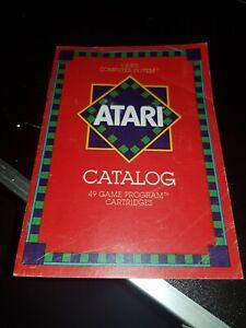 ATARI 2600 Games Console CATALOG of 49 Program cartridges