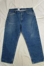 Carhartt B17 DST Faded Color Denim Work Jeans Tag 42x30 Measure 42x30
