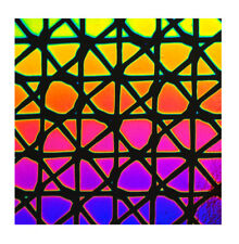 Dichroïque en verre 90 Coe géodésique sur Mince Noir CBS 5x10 cm