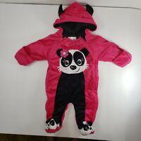 Infant Girl Panda Bunting 3 6 Month hot pink