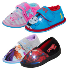 Boys Girls Character Light Up Slippers Kids Flashing Nursery House Shoes Size