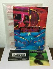 MINT NINTENDO 3D VIRTUAL BOY VB INSTRUCTION BOOKLET VUE-USA W INSERTS & OG BAG
