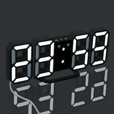 3D LED Große Digitaluhr Wanduhr Alarm Clock Digital Wecker Tischuhr Display DHL
