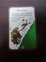 Munchkin Promo Card ROLLBACK Steve Jackson Board Game  - NEW
