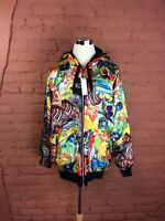 NWT Men's Celebrity By Design Jacket Size XL Multicolor Reversible Full Zip T-12