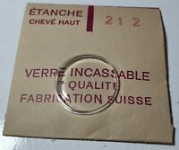 Verre de montre suisse bombé plexi diamètre 212 Watch crystal vintage *NOS*