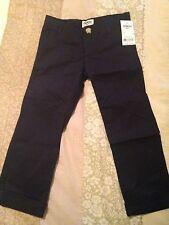 NWT Oshkosh Boys Size 4 Navy Cotton Casual Dress Pants W/ Cuff & Pockets