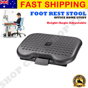 Foot Rest Stool Office Computer Desk Footrest Comfort Height Angle Adjustable OZ