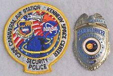 OBSOLETE NASA KENNEDY SPACE CENTER POLICE BADGE  PATCH SECURITY OFFICER SERVICES