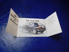 VW Der Neue Golf 2 Typ 19e  83 84 1984 1983Prospekt Katalog