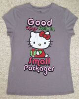 *see size info* HELLO KITTY GOOD THINGS COME IN SMALL PACKAGES TEE/TOP Slim-Fit