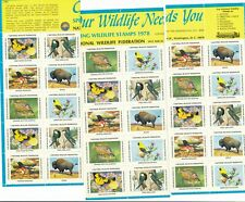 1978 - National Wildlife Federation Stamps for Christmas Sheet