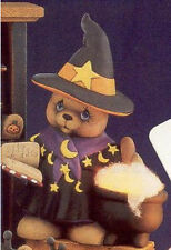 Ceramic Bisque Ready to Paint Girl Witch Bear lighting included