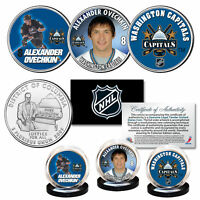 WASHINGTON CAPITALS 2018 Champions ALEXANDER OVECHKIN NHL DC Quarters 3-Coin Set