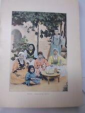 ALGERIE: Gravure 19° in folio couleur /FAMILLE MAURESQUE DE BLIDAH