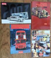 4 x SUNSTAR colour catalogues 2003 2004 Routemaster Bus 2009 VW WRC De Lorean