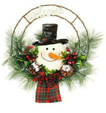 Christmas Decoration Jolly Snowman Hanging Face Wreath 202032