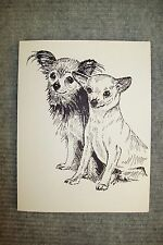 Chihuahua Pen and Ink Stationary Cards, Note Cards, Greeting Cards. 10 pack.