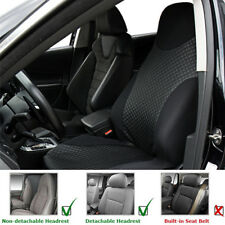 Car Auto SUV Front Seat Cover Black PU Imitated Leather Sports Washable Cushion