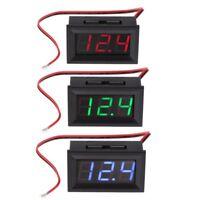 """DC 4.5V-30V Digital Voltmeter 0.56"""" LED 2-Wires Voltage Volt Meter Panel Gauge"""