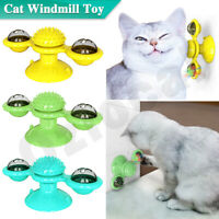 Cat Windmill Toy Kitty Turntable Interactive Scratch Hair Tickle Brush Turing