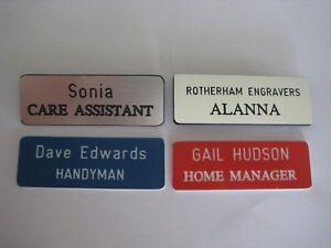 Quality Engraved Name Badges - Hotels, Shop, Volunteer, Homes, School, Pubs. Etc