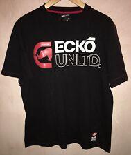 Uomo nero scollo tondo manica corta T-shirt taglia M Ecko Unlimited < NH6974