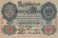 GERMANY - Banknote - 20 Marks - 19-2-1914 - P-46B - FN