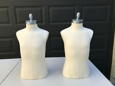 Set Two Professional Dress Form 1/2 Youth Female Torso No Legs Mannequin