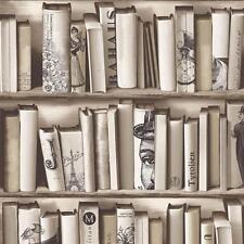 MURIVA BOOK SHELF CASE PATTERN LIBRARY VINTAGE MOTIF MODERN WALLPAPER E82208