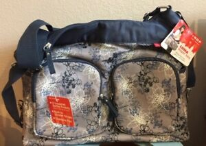 Skip Hop Luna Diaper Bag Out and About Changing Pad Stroller Clips Baby