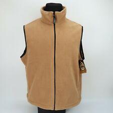 Woolrich Mens Trailhead Fleece Camel Zip Up Vest Size Large