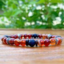 Bracelet Homme Femme  pierres Naturelles Jaspe - pierre de lave - Tibet - Coco