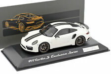 Porsche 911 (991) Turbo S Exclusivo Series Blanco, Negro 1:43 Spark