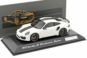 Porsche 911 (991) Turbo S Exclusive Series weiß, schwarz 1:43 Spark
