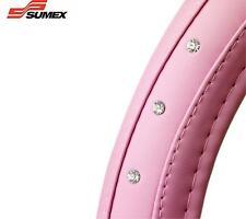 Sumex coche cubierta para volante Diamante Rosa Piel Suave Funda BRILLO