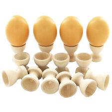 2X Egg Cup Holder Wooden Kitchen Dinning Table DIY Crafts Home Garden Decor