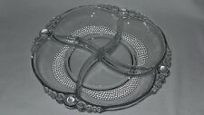 Duncan & Miller Glass Co Teardrop 4 Part Divided Relish Server Tray Dish