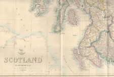 1863  LARGE ANTIQUE MAP - DISPATCH ATLAS- SCOTLAND
