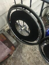"QUICKIE 25-590 WHEELCHAIR SUNRIMS CR20 with 25""PRIMO V TRAK TIRES"