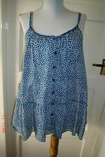 SIZE  8  - BLUE & WHITE SPOTTY COOL  SUMMER TOP