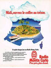 "PUBLICITE ADVERTISING 045  1979  RMC radio  jeu "" LE COFFRE AU TRESOR"""