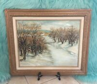 Baidzar Arootian Oil Painting Landscape Original Signed Vtg Artwork Framed