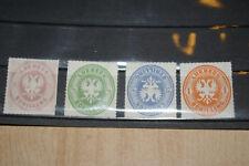 Altdeutschland *Lübeck 1863  Mi 8, 9, 11 +14* postfrisch + geschnitten  /ND 1978