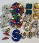 Vintage+or+Costume+Jewelry+Earrings+LOT.++OO-48