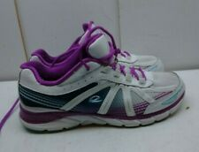 Easy Spirit INFLIGHT White Purple Leather Athletic Sneaker Women Shoes 8.5M 39.5